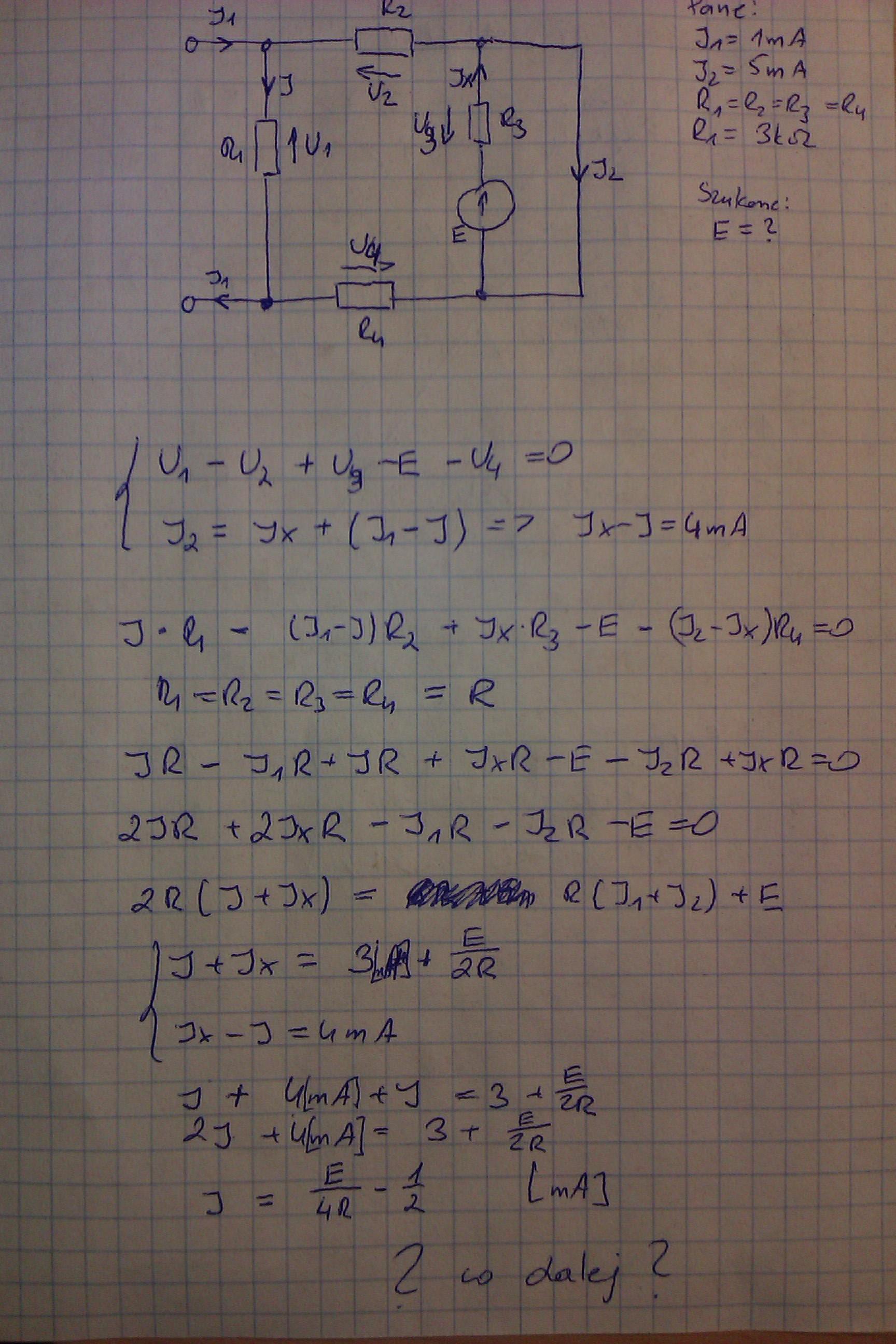 Rozwi�zanie prostego obwodu elektrycznego