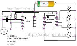 Bezprzewodowy kolorofon lub muzyczna kostka na ATtiny13