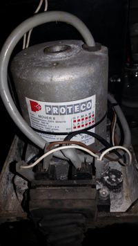 Proteco Mover 8 - Mechanizm napędu i blokada manualna