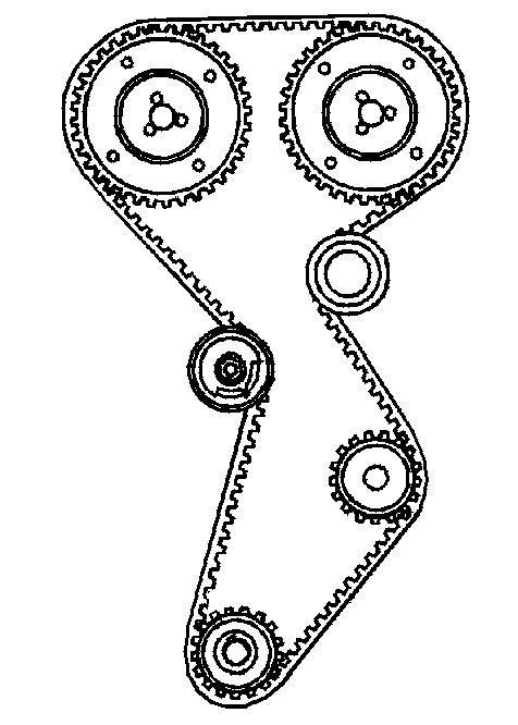 Wymiana rozrządu Fiat Siena 1.6 16v
