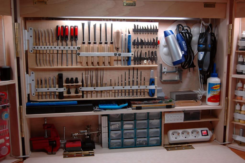 Zasilanie stacji modelarskiej pod czenie wietl wek for Casas de madera para guardar herramientas
