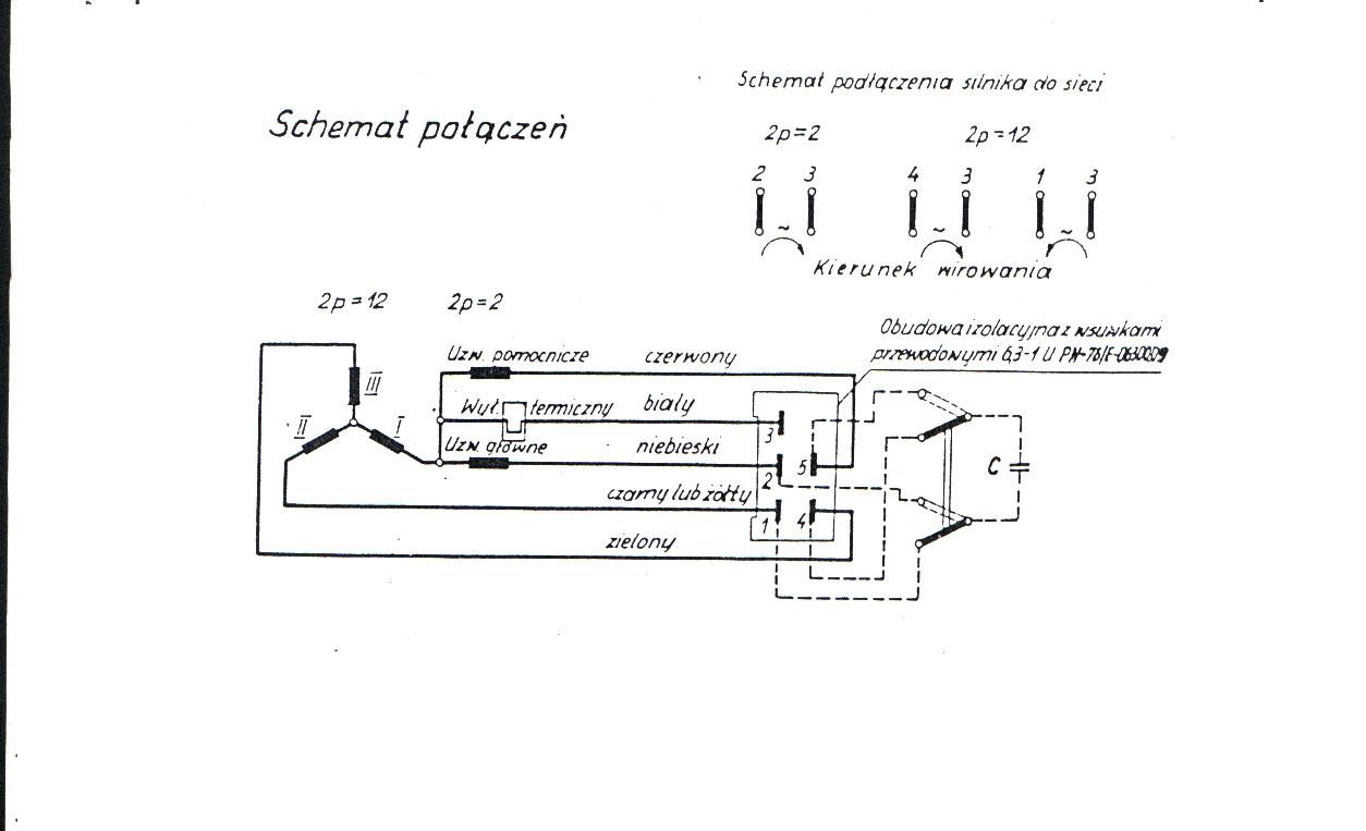 POLAR , WHIRPOOL - Jak pod��czy� silnik do sieci 220V