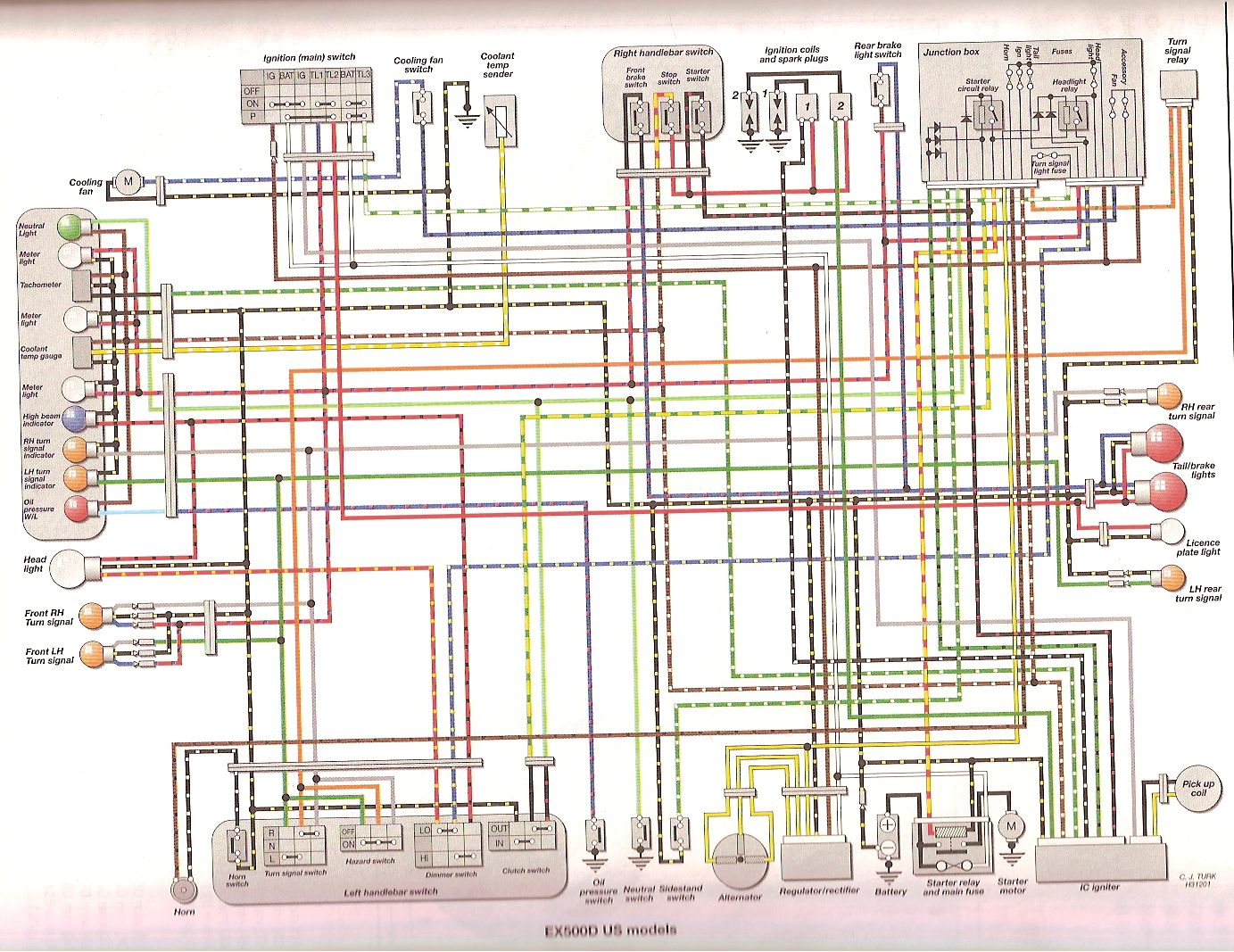 Harley Davidson Headlight Wiring Diagram Radio Harness Stereo Electronic Speedometer Smart Speedomet X additionally Buick Lesabre Wiring Diagram Diagrams Schematics With B Dc Cb likewise D Fan Relay Bypass Question V Power Fuse Panel together with Microfiche Mv Agusta Moto Pieces Detachees as well Original. on 2003 yamaha r6 wiring diagram