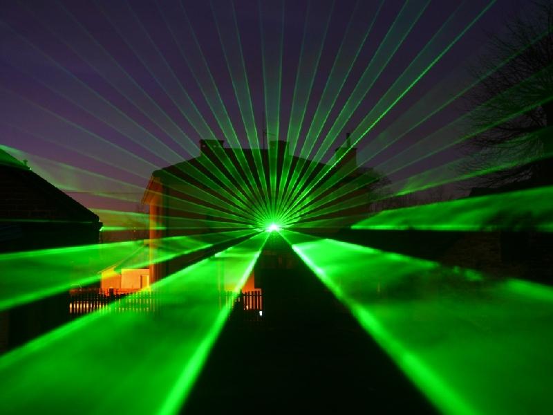 Projektor laserowy zielony 500 mW na galvach 30 kpps