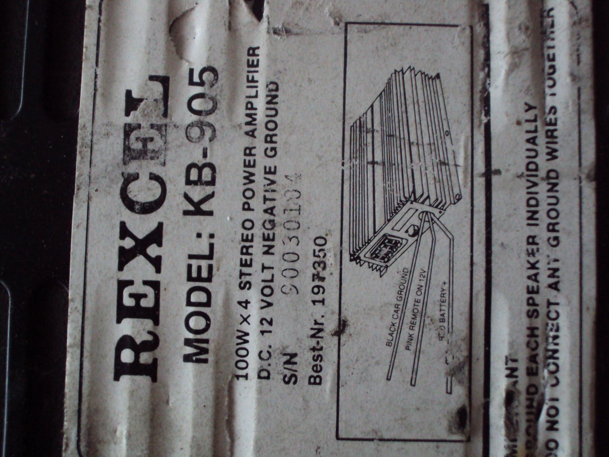 rexcel kb-905 - wzmacniacz nie zaskakuje