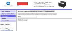 KONICA MINOLTA BIZHUB 3300P - hasło ustawień
