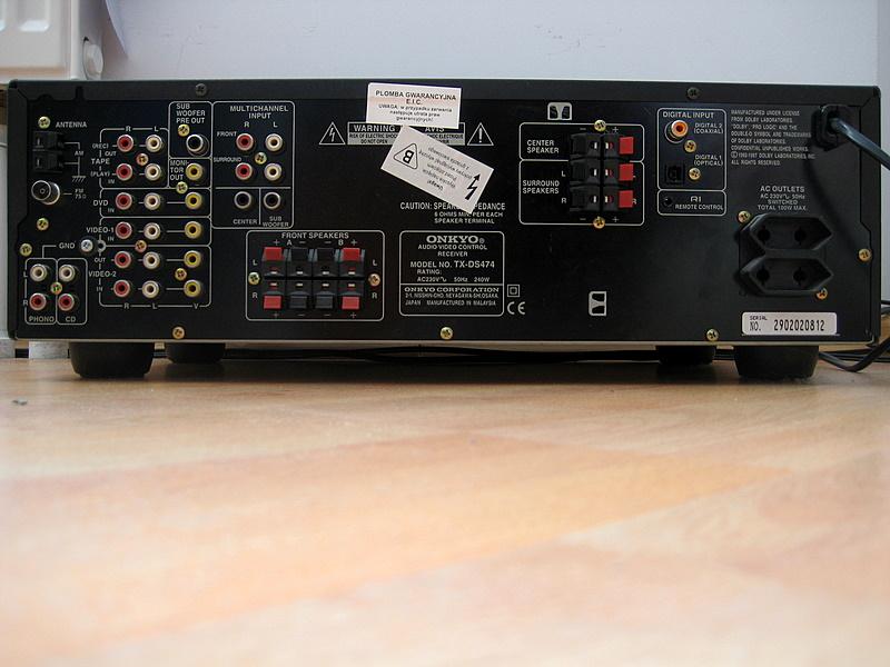 jak pod��czy� amplituner ONKYO TX-DS474 do tv Panasonic TX-47AS650E