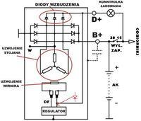 Mercedes W124 2.3 benzyna - Wstawienie diody do regulatora celem zwiekszenia lad