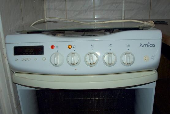 Kuchnia Amica G6E3 43SZTc  pokrętło się wytarło od piekarnika -> Kuchenka Gazowa Amica Oznaczenia Piekarnika