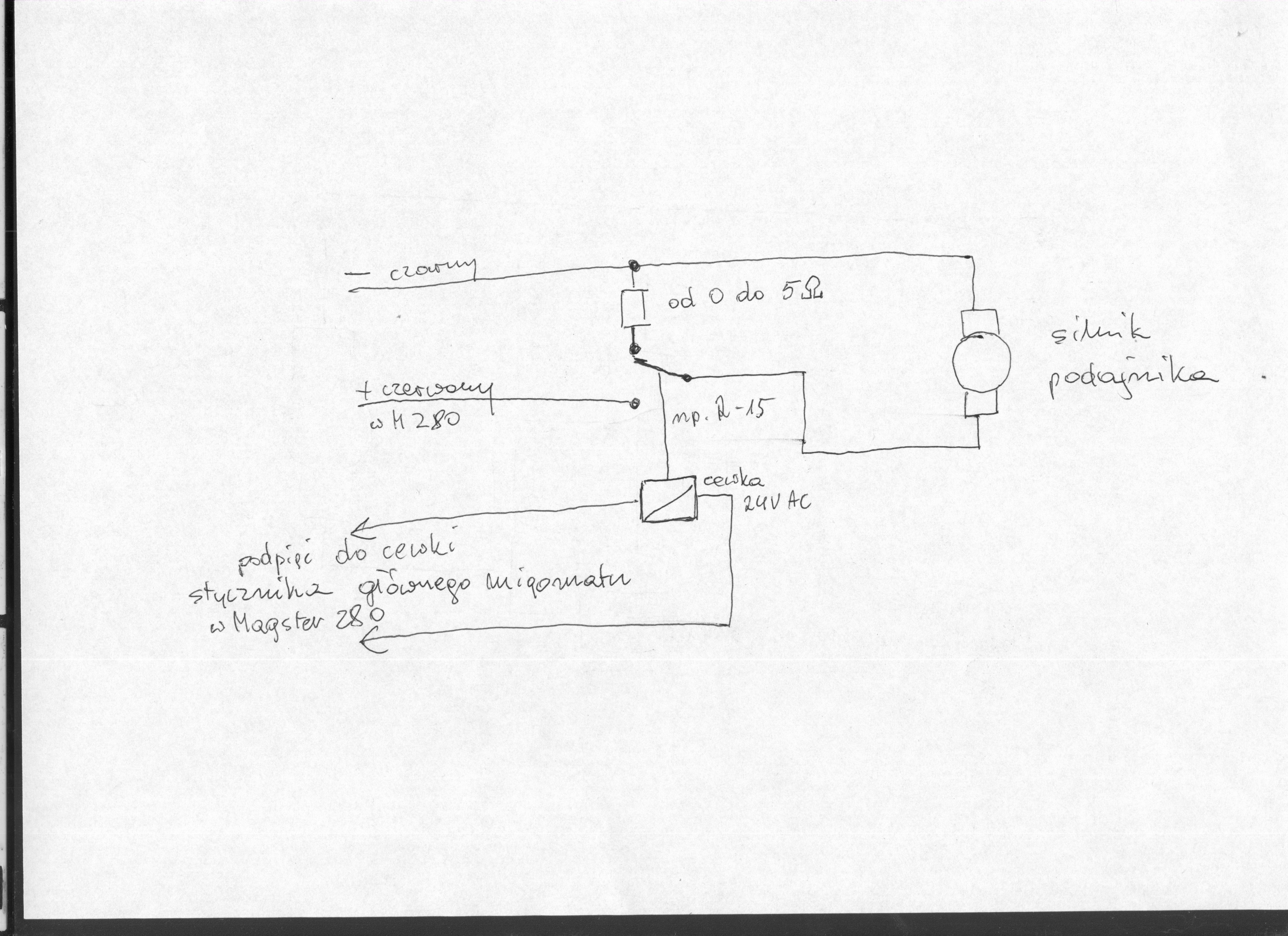 Magster 280 schemat p�ytki us-69-1 nie hamuje podajnika