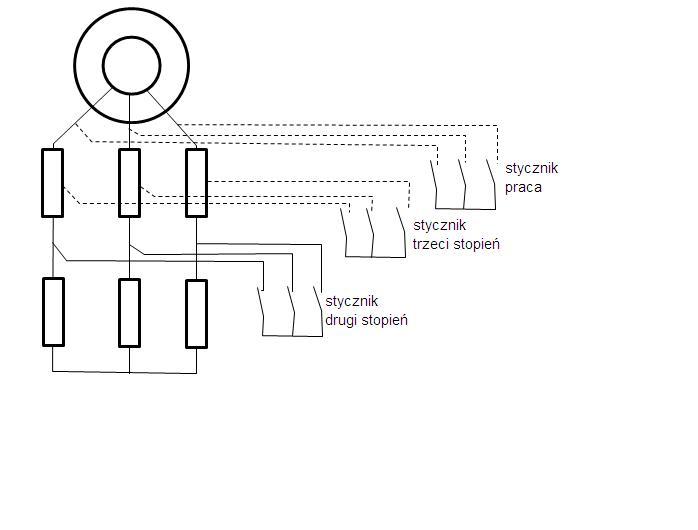 Pod��czenie softstartu do silnika indukcyjnego pier�cieniowe