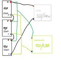 Jakim napi�ciem �adowa� 3 akumulatory 12v po��czone szeregowo