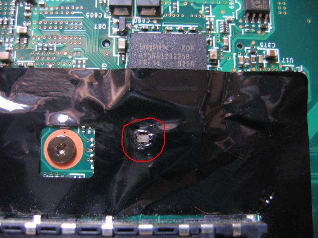 Lenovo R61 - identyfikacja elementu na p�ycie g��wnej