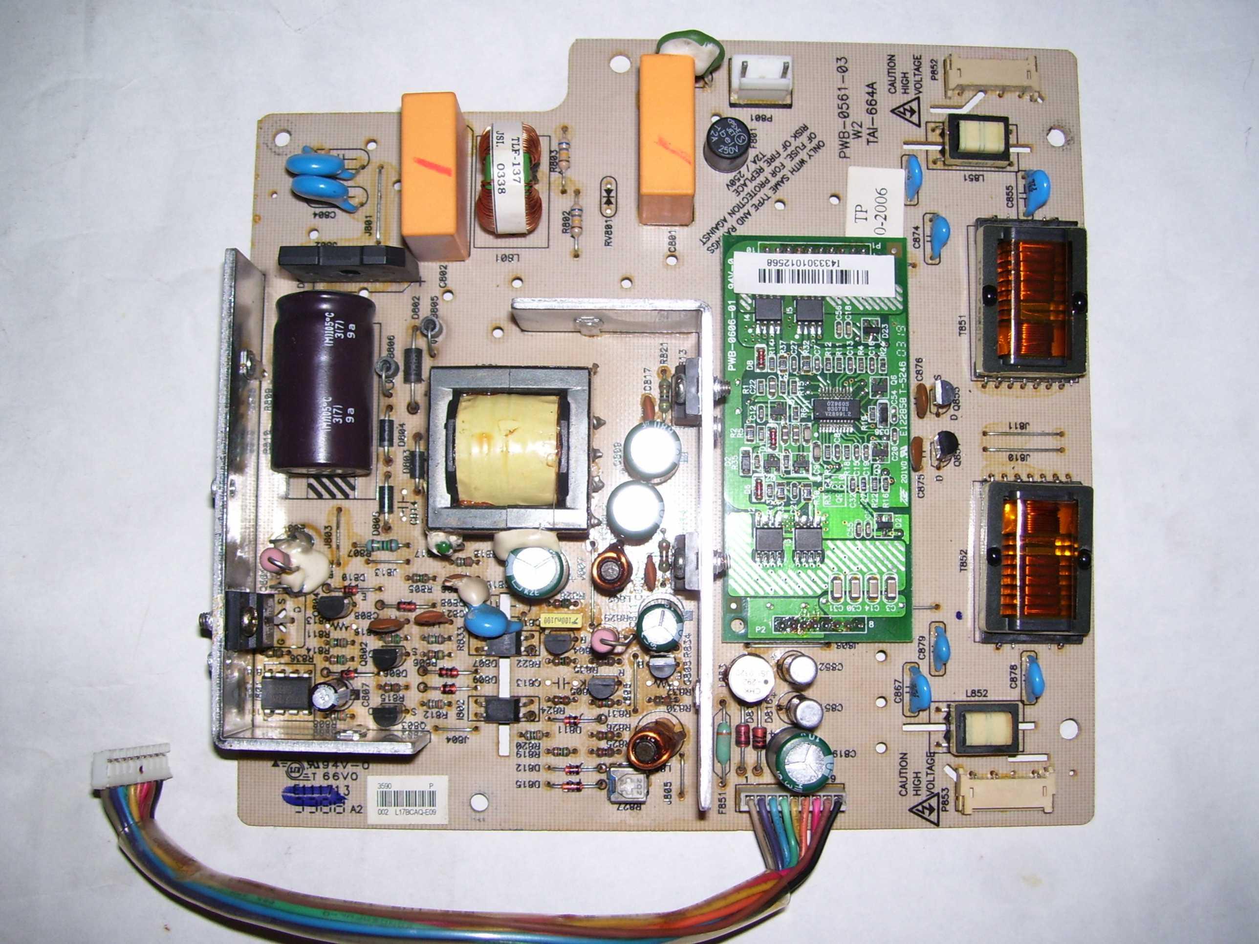 HP 1702 - po 2 sek ga�nie pod�wietlenie matrycy
