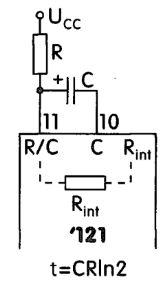Układ wyzwalający z uniwibratorem 74121/74123