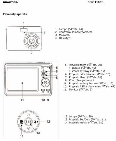 PRAKTICA Dpix 1100z instrukcja obs�ugi PL DE ENG ES FR IT TC + sterownik + apk