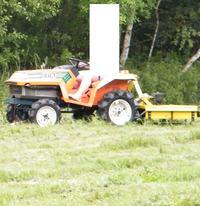 przeróbka noży/ poprawa koszenia w kosiarce rotacyjnej do mini traktorka