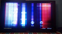SAMSUNG le55a956d1m - poziome pasy na całej długości ekranu
