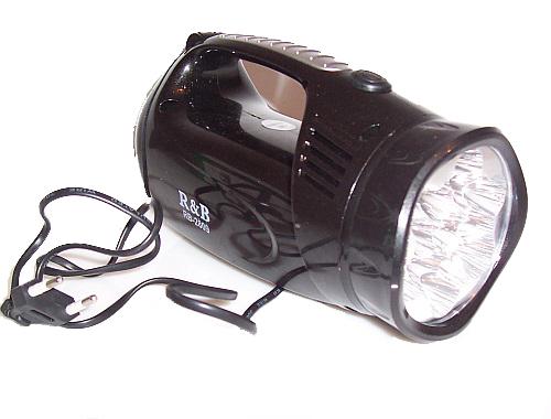 Zasi�g �wiat�a - latarka r�czna 37 LED - reflektor, halogen.