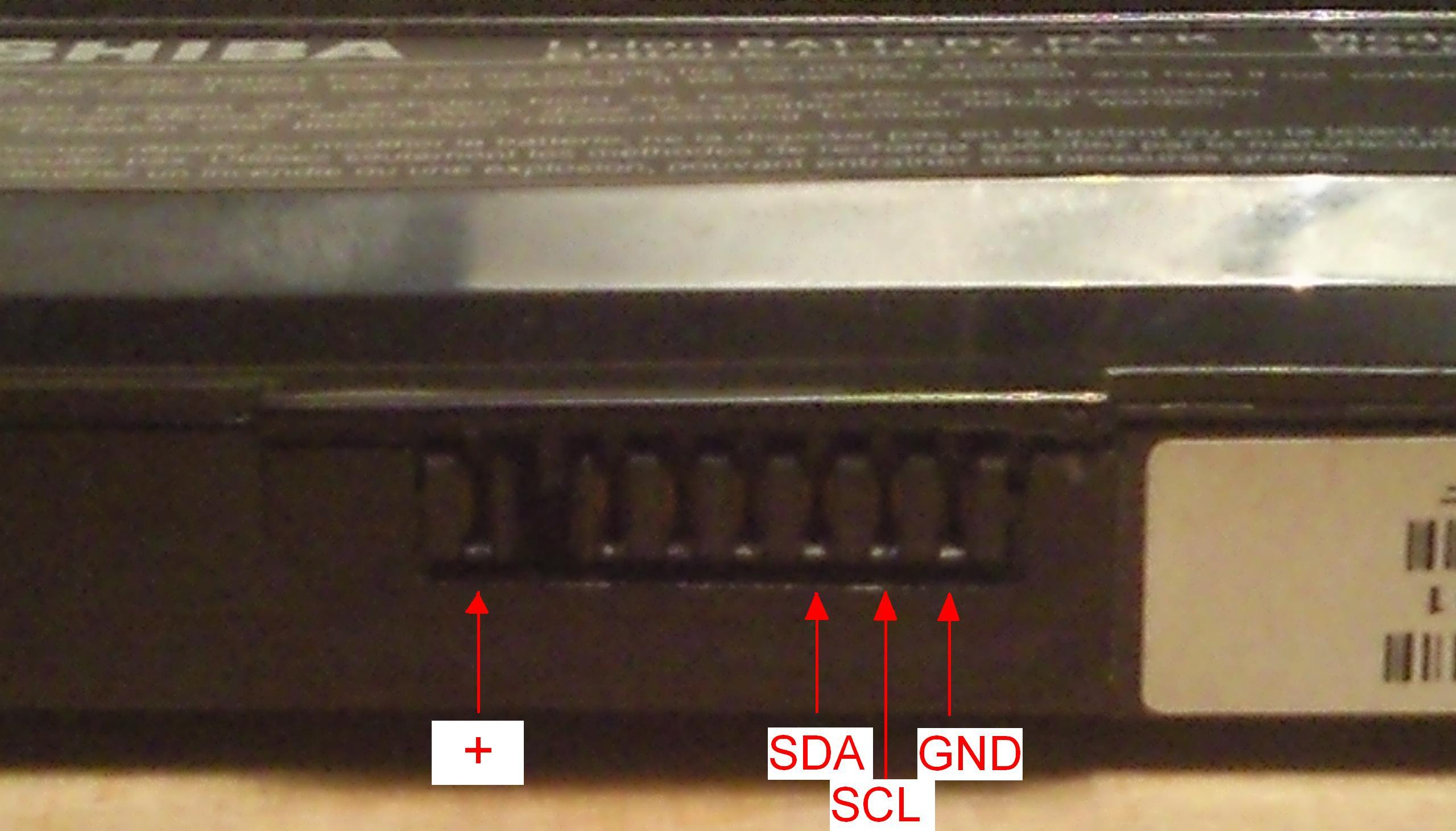 Reset baterii Toshiba PA3399U-2BRS - chip BQ80201DBT
