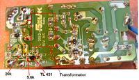 Przeróbka zasilacza impulsowego z 12V na 7,2V