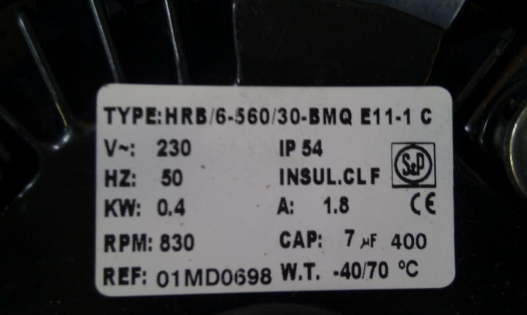 wentylator HRB + kondensator - Pod��czenie