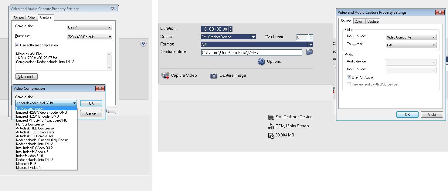 Ulead Video Studio jak przechwyci� d�wi�k z VHS (Grabber)