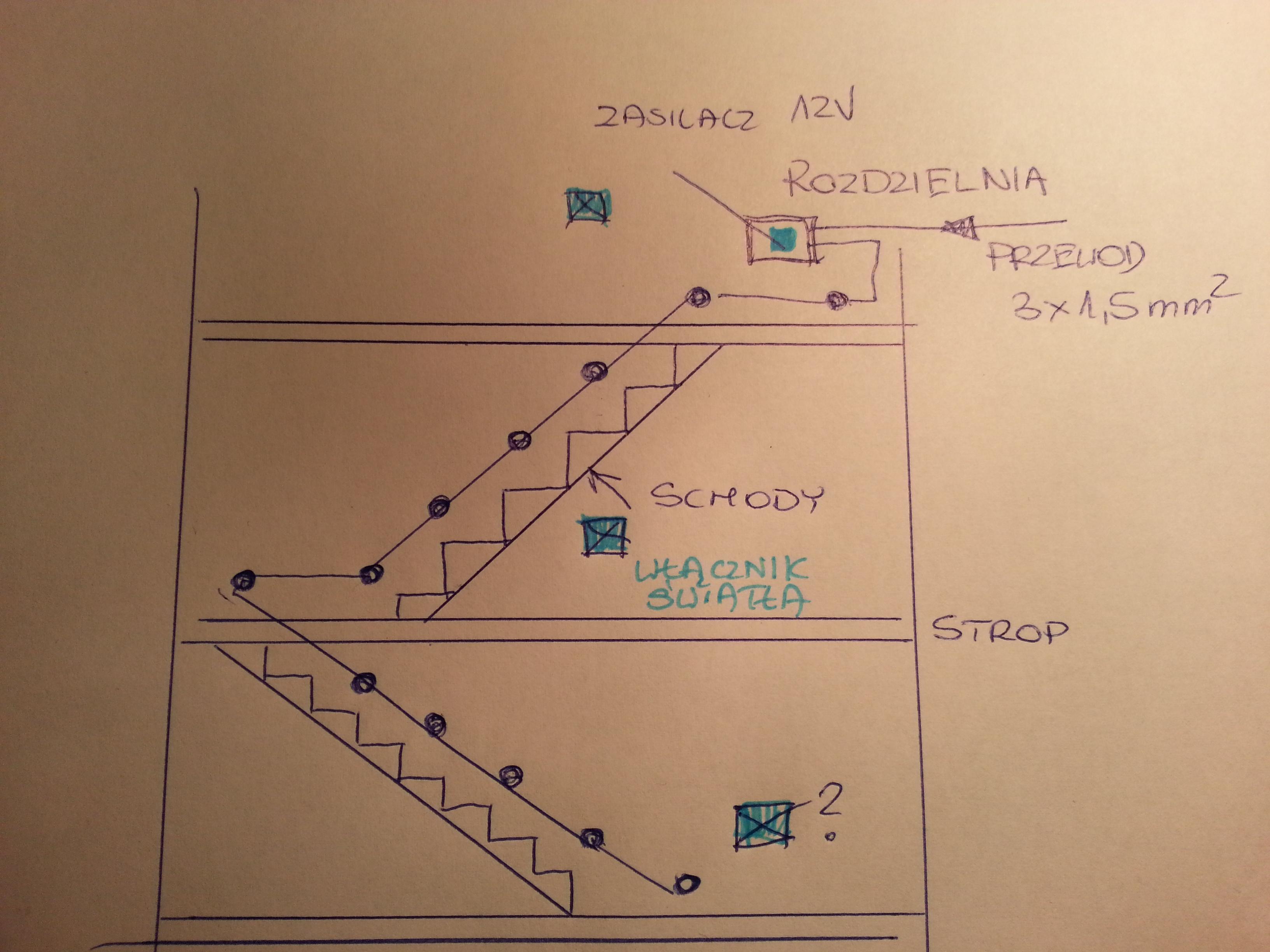 Schemat pod��czenia 3 kontakt�w w LED12V - Prosze o schemat.?