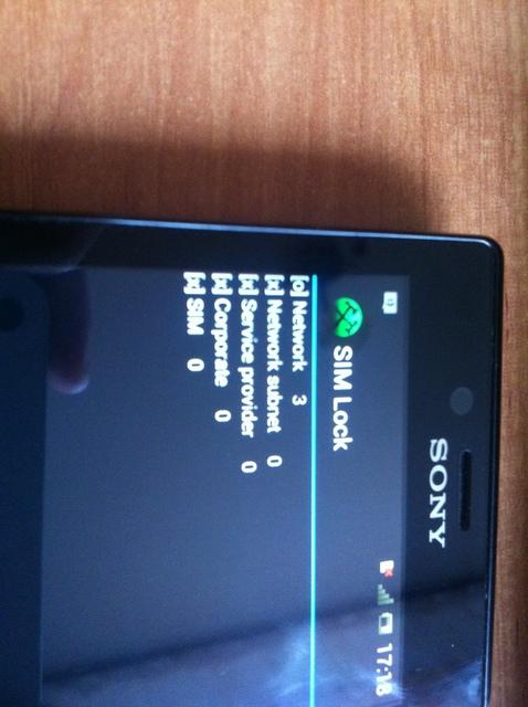 sony st26 - czy telefon ma zablokowany licznik?