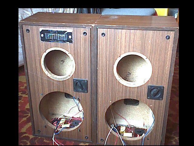 Kolumny Tonsil ZG30C114 4 ohm bez głośników TANIA przeróbka?