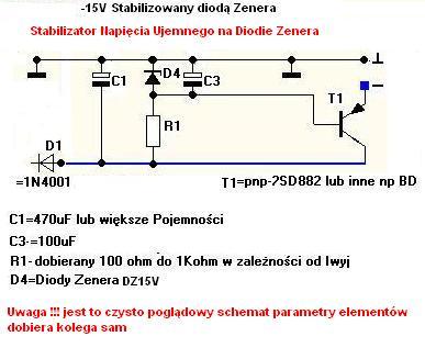 stabilizator na diodzie zenera
