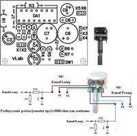 Gdzie wlutowac potencjometr do wzmacniacza na TDA7294 ?