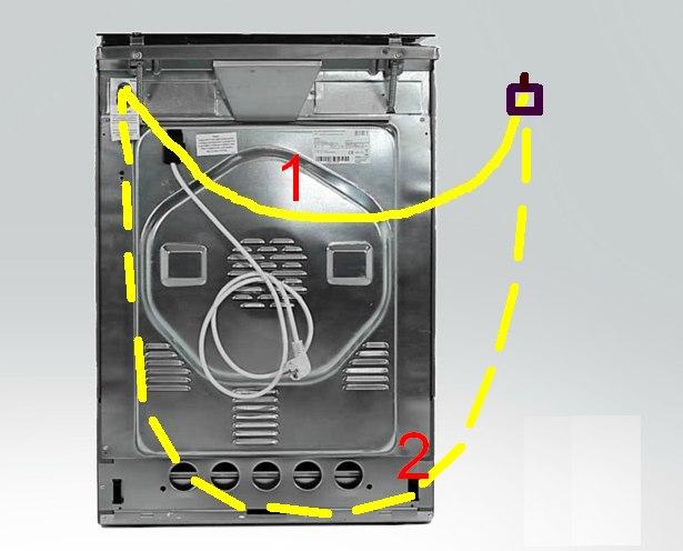 Pod��czenie kuchni gazowo-elektrycznej.