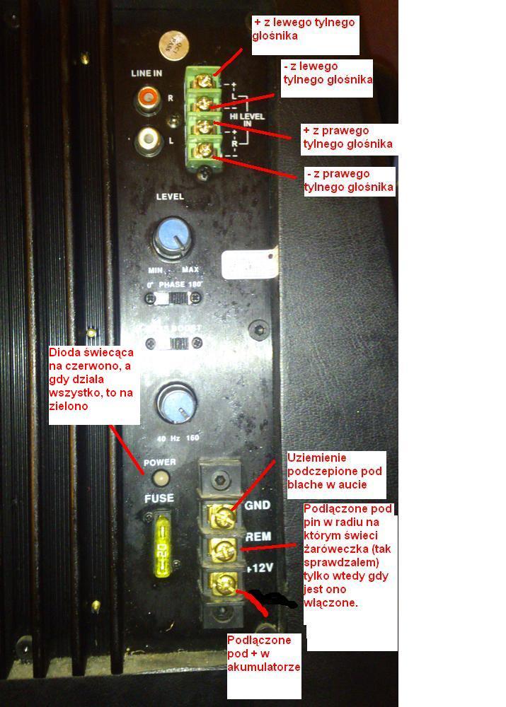 PEIYING PY-BC250X - Gdzie podpi�� rem w radiu forda?