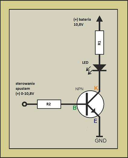 BOSCH GSB 1080 2 LI - montaz oświetlenia LED