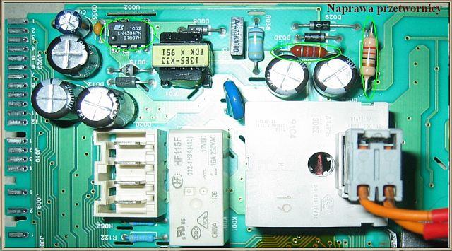 Polar AA class PWA1027/2 - diody nie świecą, pralka nie reaguje.