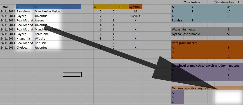 Excel - Zliczanie wyst�powania warto�ci tekstowych.
