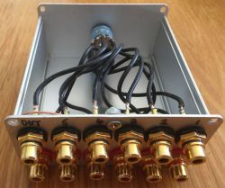 Selektor wejść audio DIY wzmacniacz 2x30w