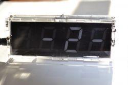 Zegar do montażu na 4 wyświetlaczach 7-segmentowych z obudową - opis i recenzja