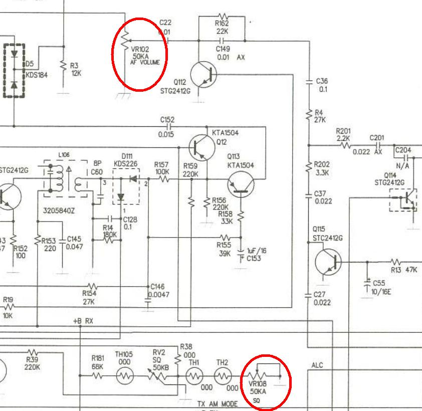 Intek HR-5500 / K-PO 5000 - potencjometr si�y g�osu i SQ
