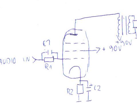 Wzmacniacz lampowy na pcl82