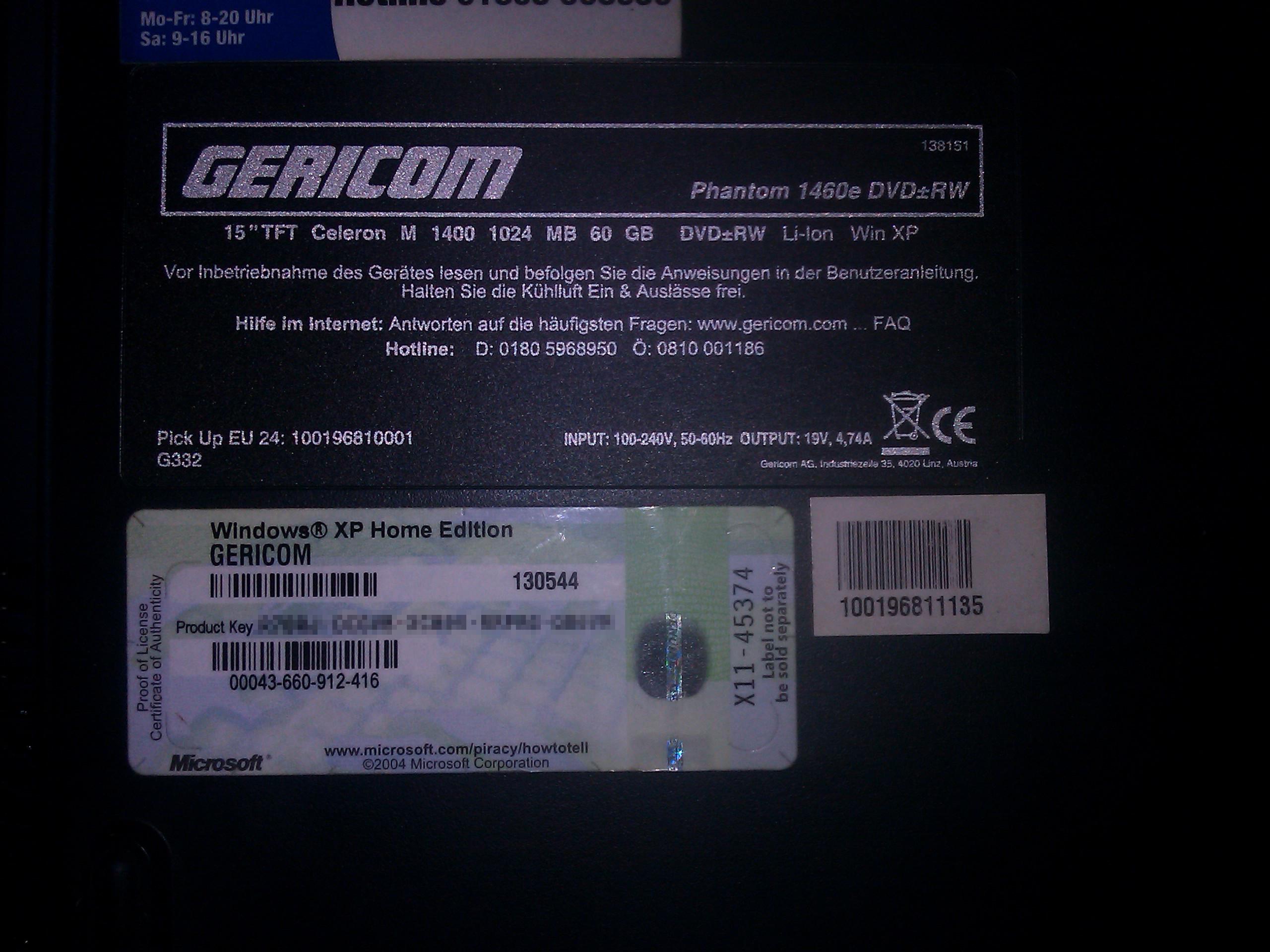 Gericom Phantom 1460e - Szukam wszystkich informacji (najlepiej manual)