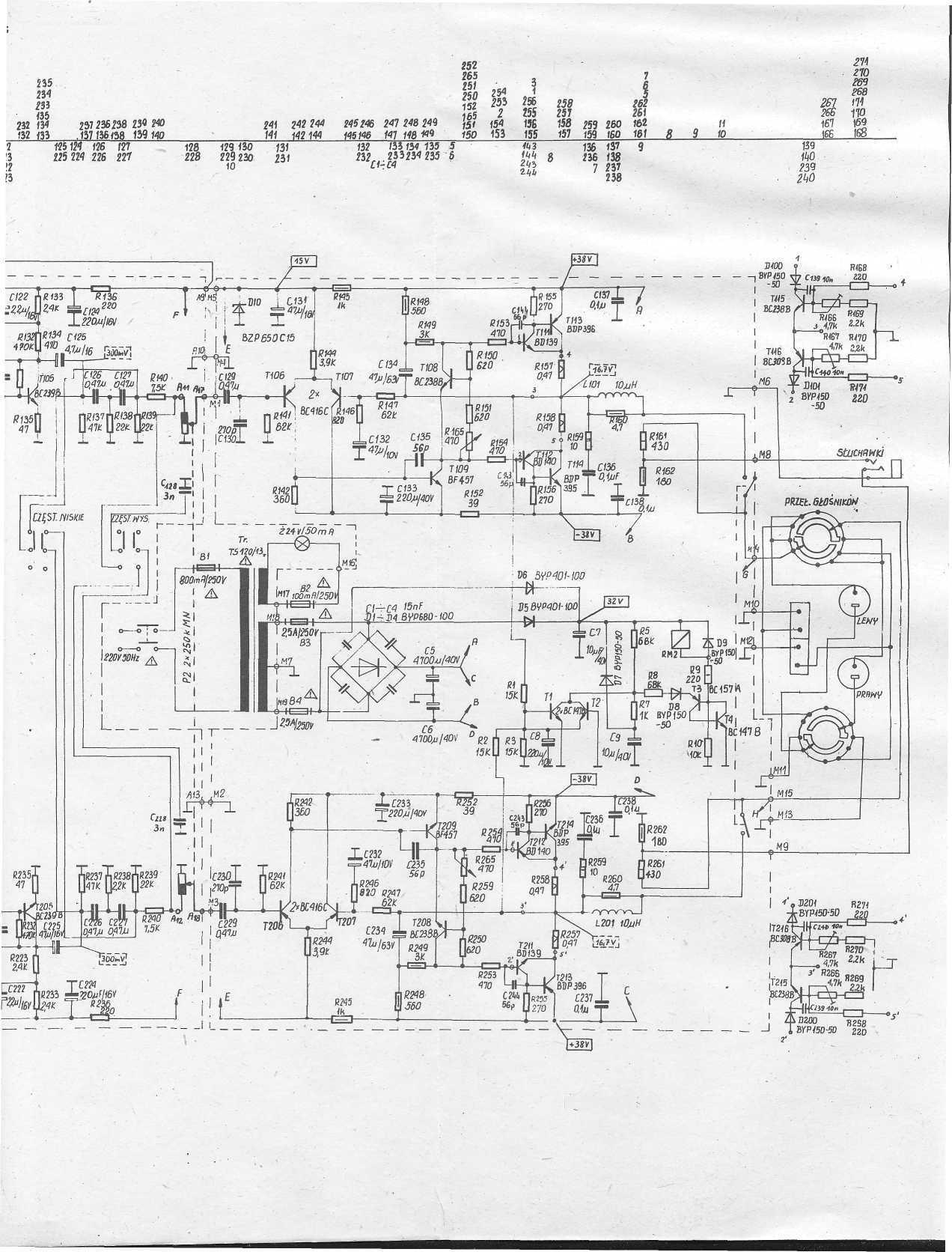 Zamienniki tranzystor�w wzmacniacza  Unitra PW 9013