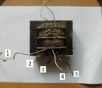 Stary transformator - Schemat uzwojeń