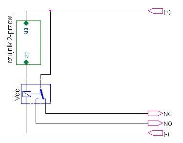 Podłączenie czujnika dwuprzewodowego do sterownika który wymaga czterowprzewodow