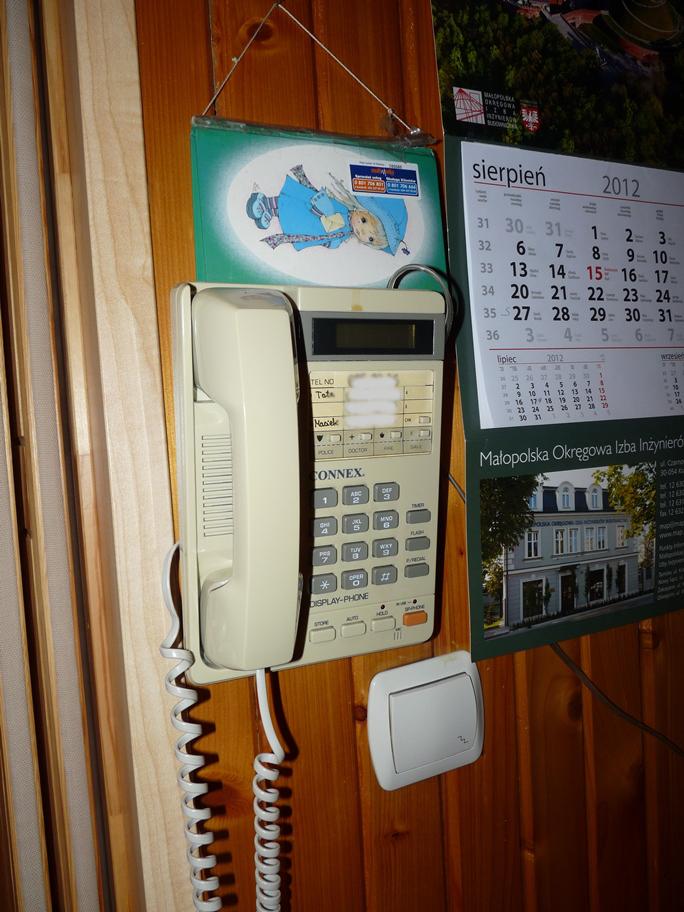 Wisz�cy telefon bezprzewodowy