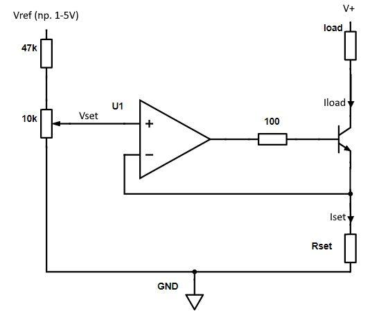Jak zrobić proste źródło prądowe sterowane napięciowo?