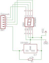 Prosty termometr z czujnikiem DS18B20