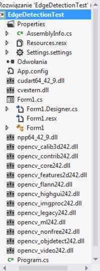 C# - EmguCV - Błąd kompilacji aplikacji, błędna konfiguracja środowiska