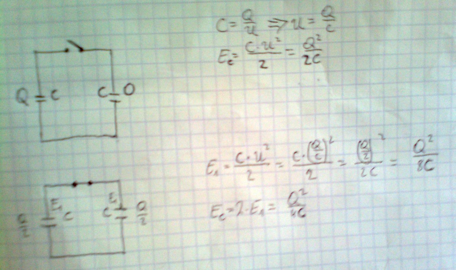 Paradoks ��czenia kondensator�w